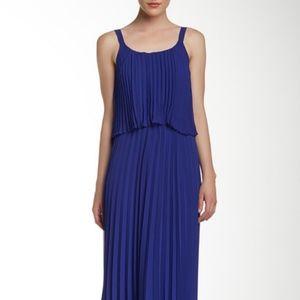 Eliza J. Strappy Pleated Popover Maxi Dress